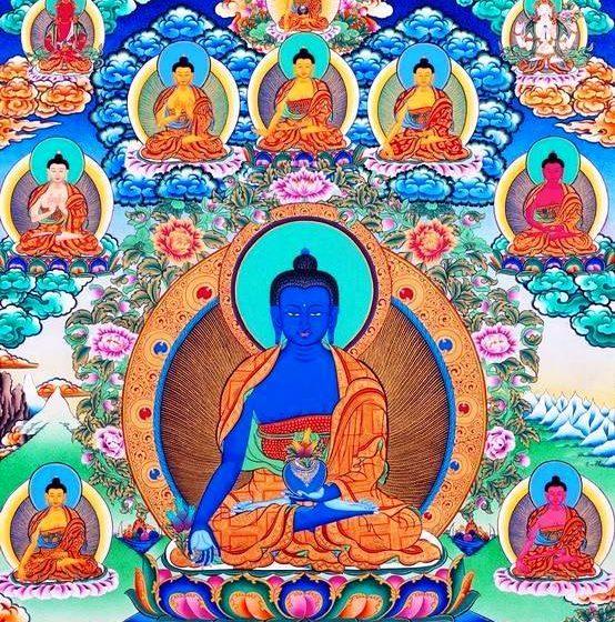 Puja de Buda de la medicina. Año nuevo