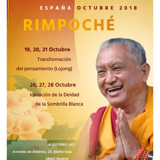 Visita Lama Zopa Rimpoché a Madrid en Octubre