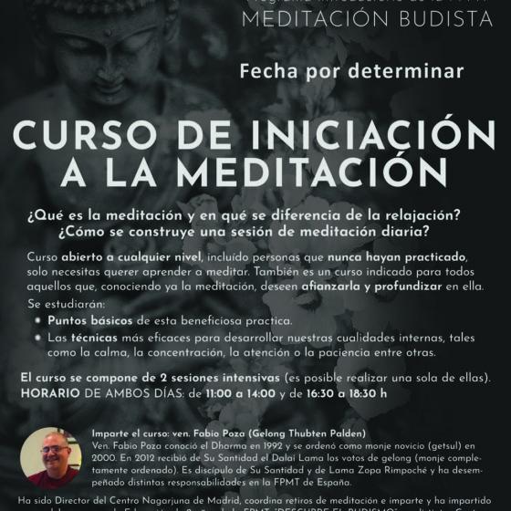 LA MEDITACIÓN BUDISTA Curso de iniciación a la meditación