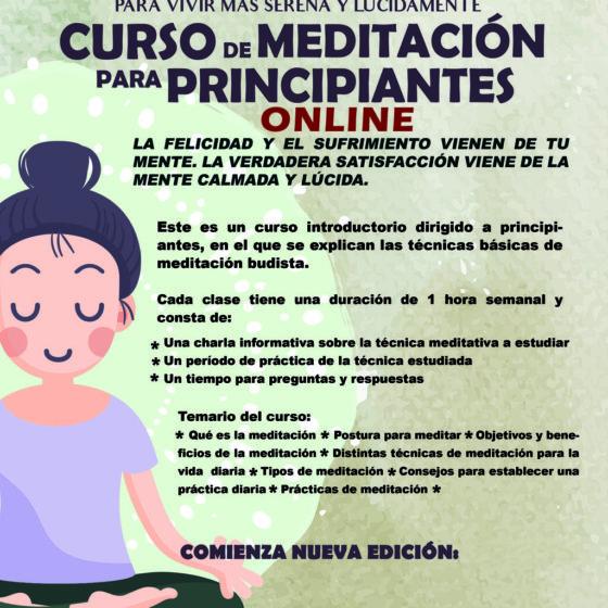 MEDITACIÓN PARA PRINCIPIANTES ONLINE