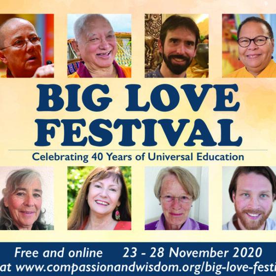 Big Love Festival. www.compassionandwisdom.org